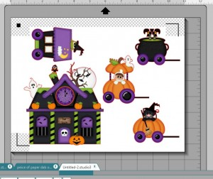 Halloween Train on Mat