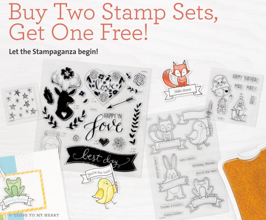 Buy 2 Stamp Sets, get 1 Free